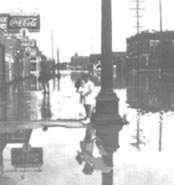 Topeka, Kansas in 1951 flood.