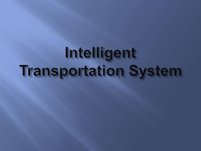 Intelligent Transportation Systems (ITS)