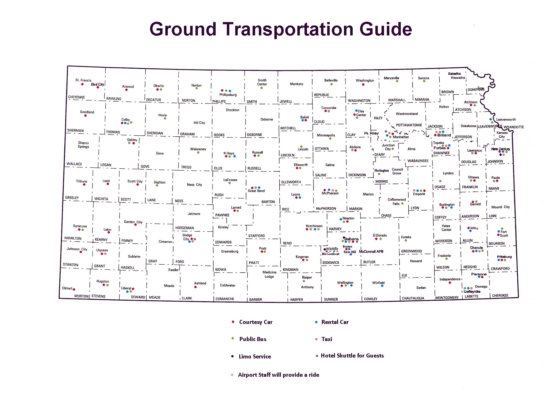Ground Transportation Guide Map