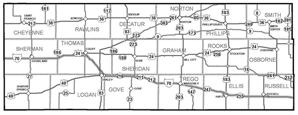 KDOT Area Served District 3