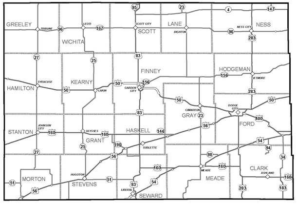 KDOT Area Served District 6