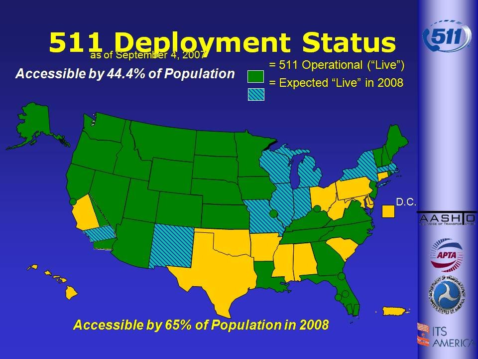 511 Deployment Status Nationwide