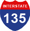 Interstate 135 shield