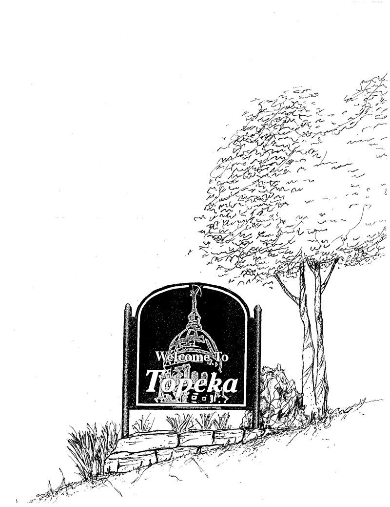 Welcome to Topeka Signs B&W Illustration