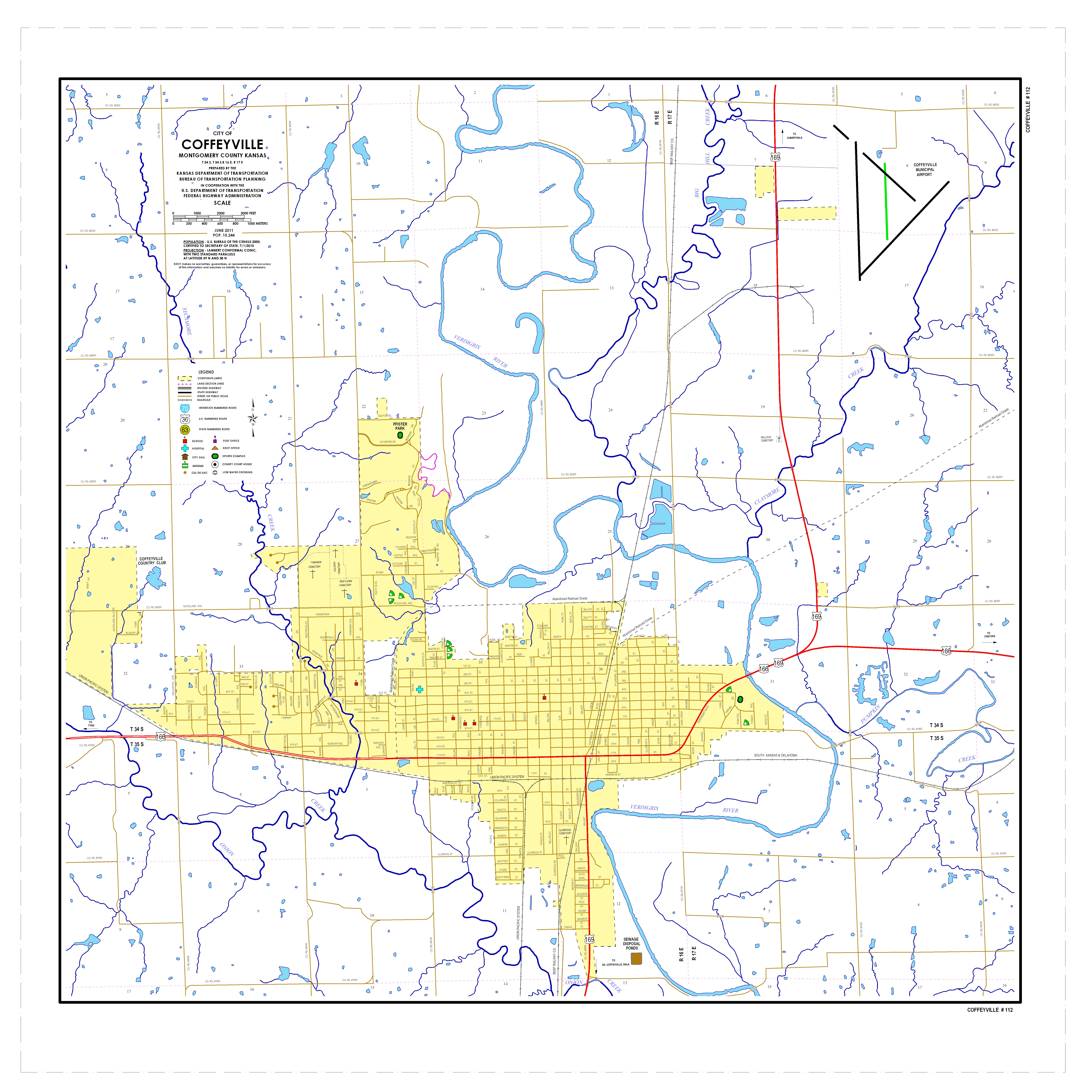 KDOT City Maps Sorted By City Name - Kansas highway map