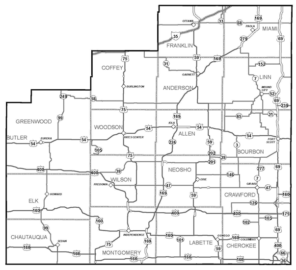 District 4: Southeast Kansas on md road map, bc british columbia road map, kc road map, small kansas town map, mo road map, topeka road map, co road map, indiana road map, atlas road map, oklahoma road map, current road conditions kansas map, nebraska road map, kentucky road map, idaho road map, kansas city road map, km road map, wichita road map, kansas driving map, lawrence kansas road map, kansas county map,