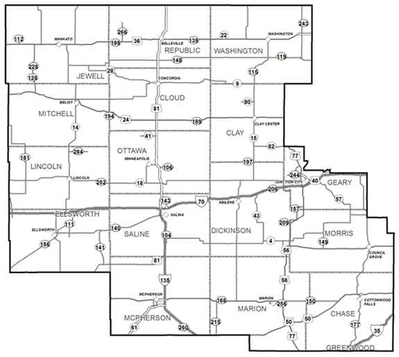 KDOT Area Served District 2