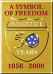 Interstate 50 years 1956 - 2006 logo